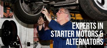 Experts in starter motors and alternators